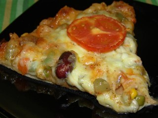 Pizza mexicana vegetariana