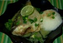 Dorada in sos green curry